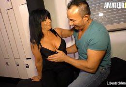 AMATEUR EURO – Romanian Big Ass MILF Gabriela K. Rides Her First German Hard Cock