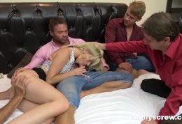Horny Family Hires Hot Stripper