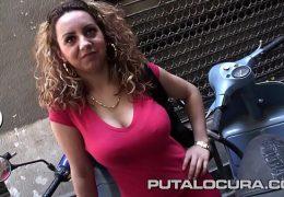 Una rumana pillada en Barcelona: Entra si te gustan las tetas