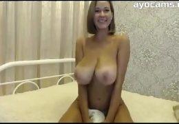 Big Natural Tits Mom on Webcam