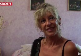 LETSDOEIT – French Cougar Loves Young Big Cocks