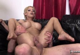 Sexy blonde LouLou getting her pussy fucked hard
